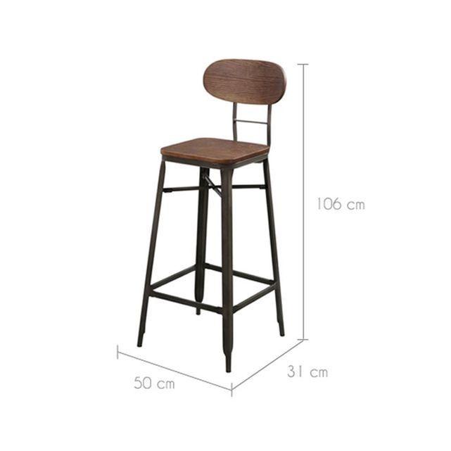 Tabouret De Bar Woody 76 Cm Lot De 2
