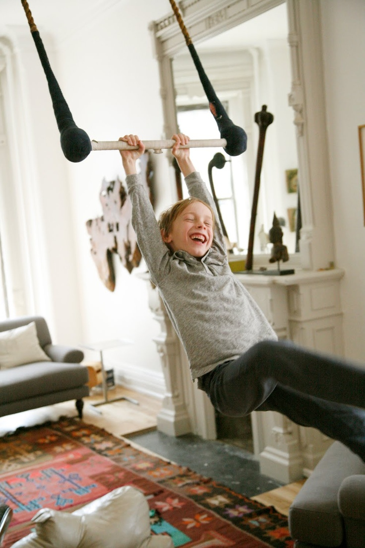 My Friend Sophie Of The Childrens Brand Oeuf Might Be Coolest Mom Ever Since She Hung A Trapeze In Her Brooklyn Living Room