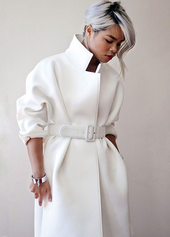Модные женские пальто из неопрена