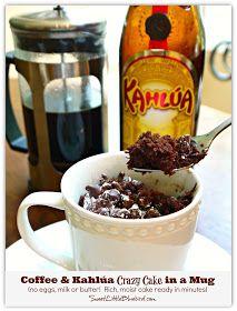 Sweet Little Bluebird: Coffee & Kahlúa Crazy Cake (no eggs, milk or butter)