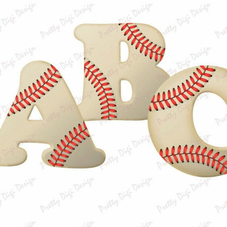 Baseball letters and numbers