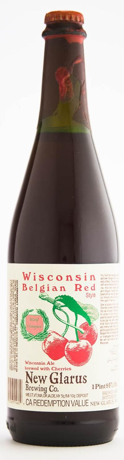 New Glarus' Wisconsin Belgian Red, a Wisconsin cherry ale brewed with more than a pound of Door County cherries, claimed the list's top spot.