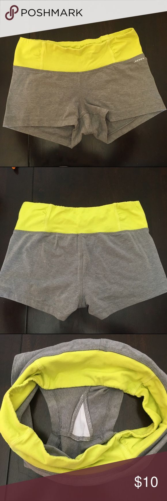 Neon Yellow/Gray Yoga Shorts Yoga Shorts that are soft and easy to relax in watching a movie. Jockey Shorts