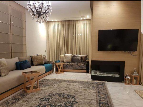 Salon marocain – salon marocain moderne – design – Intérieur sur mesure