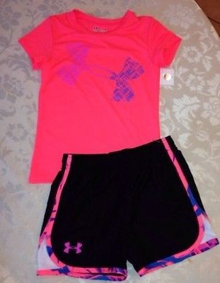 NWT, Girls, UNDER ARMOUR Shirt & Short Outfit/Set if you like this outfit look on ebay under my seller ID  green3079 THANK YOU!!