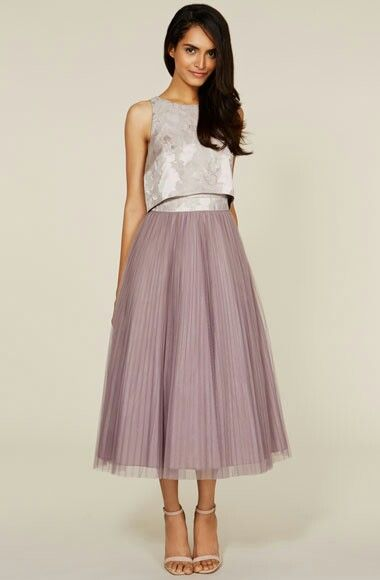 Coast two piece bridesmaid dress... love this think it's so different