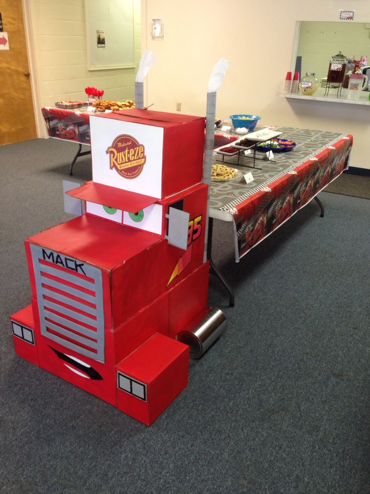 Disney Cars birthday party Mack truck