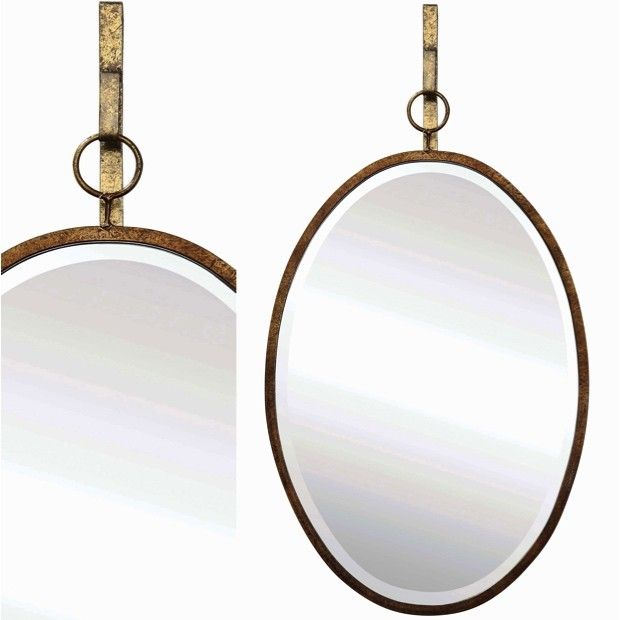 Oval Wall Mirror With Bracket