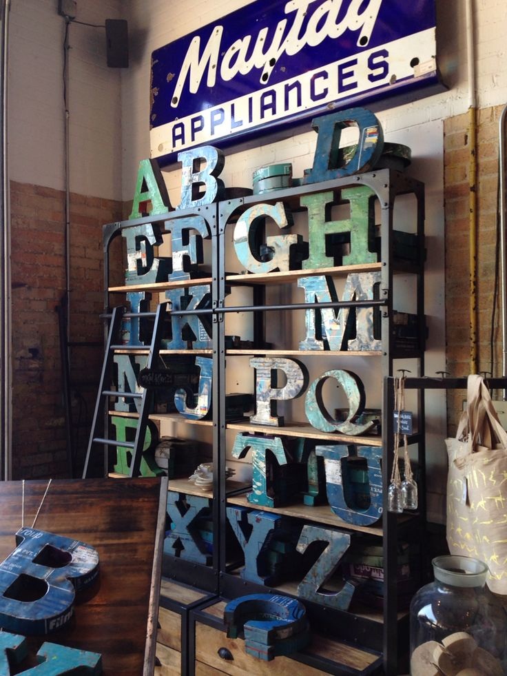 I LOVE THESE VINTAGE INSPIRED LETTERS ! ..... Get the FLEATIQUE IPhone App if your into Antiques ...