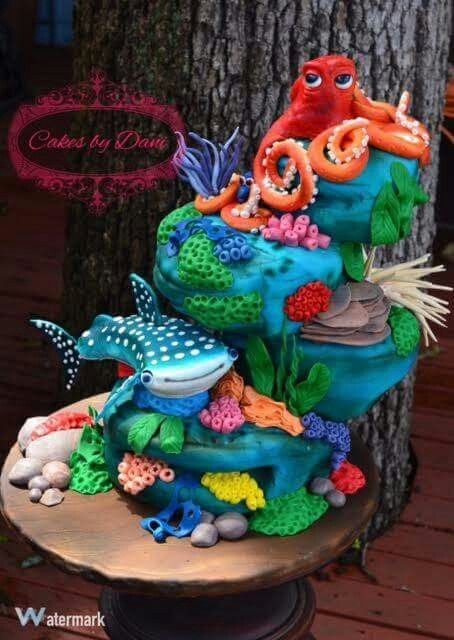 Under the Sea has taken this to a whole new level.  This cake is flawless.  For more AMAZING KIDS BIRTHDAY CAKES VISIT https://www.facebook.com/KidsBirthdayC