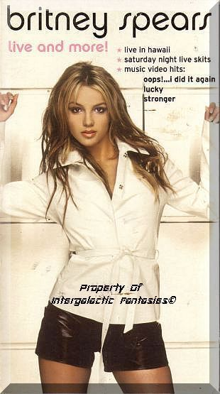 """As Britney Spears continues to have one #1 Hit after another, her image continues to mature from wide-eyed, innocent girl (see the kneesocks and plaid skirt of """"Baby One More Time"""") to a knowing, adult sexpot (see the barely there bikini outfit of the 2000 Mtv Music Video Awards.) This made-for-TV special shows both of the paradoxically coexisting sides of Britney's persona. Only $5.99 with Free Shipping!"""