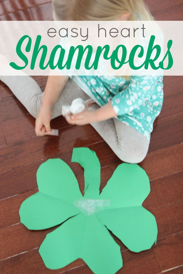 1000 images about st patrick 39 s day with kids on for Easy heart crafts
