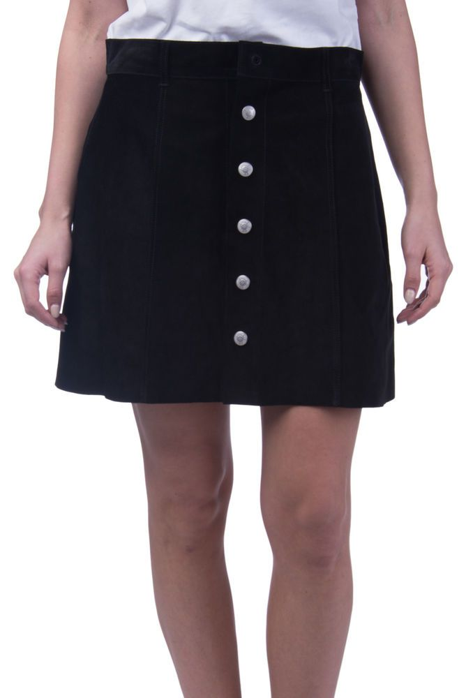 0a17882a3cb ALEXA CHUNG FOR AG JEANS Suede Leather A-Line Skirt Size 30 Popper Front  RRP629  fashion  clothing  shoes  accessories  womensclothing  skirts (ebay  link)