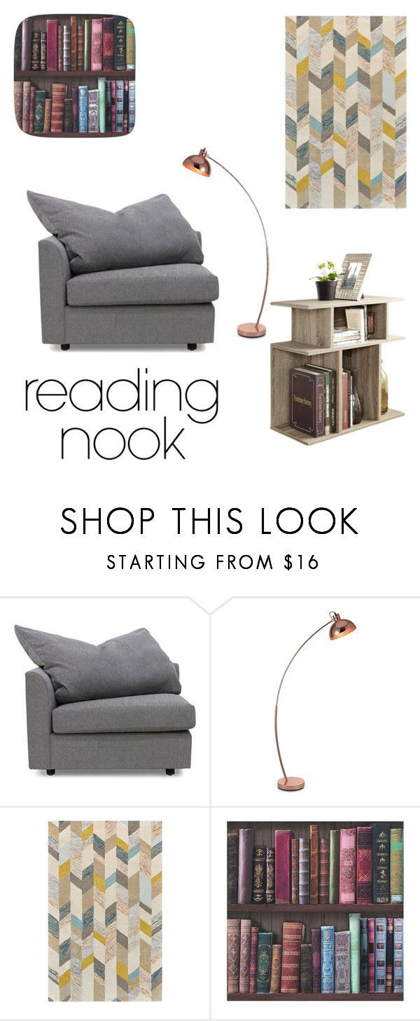 """""""Reading nook"""" by mack-lee ❤ liked on Polyvore featuring interior, interiors, interior design, home, home decor, interior decorating, Nook, Mitchell Gold + Bob Williams, Arco and Graham & Brown"""