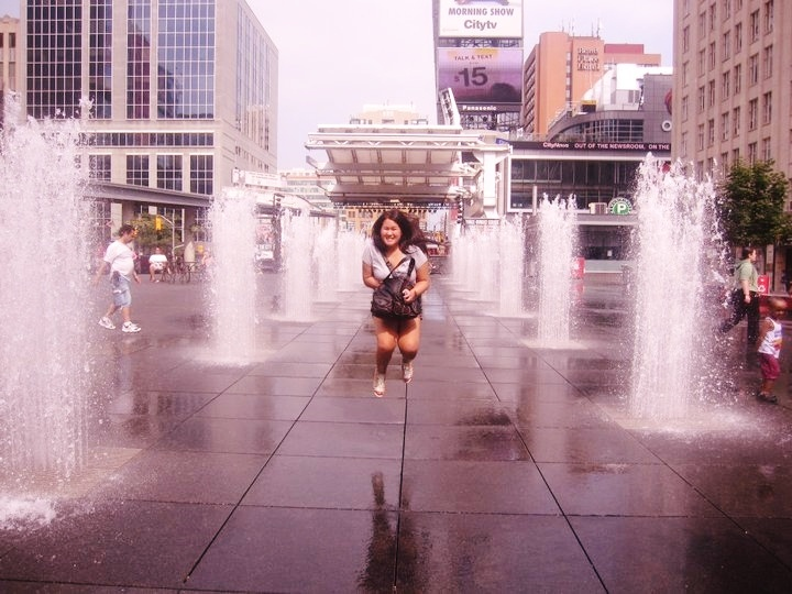 Dundas Square on a hot summer day. #PotentialistCanada