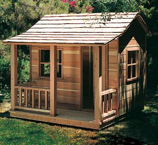 Play House Woodworking Plans This rustic Playhouse has one room and a