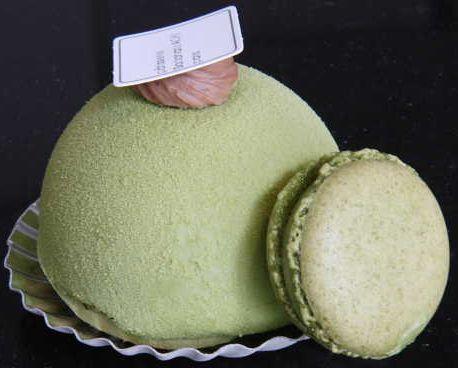 Green Tea Duomo w/ Green Tea Macaron from Sadaharu Aoki Patisserie, Paris.
