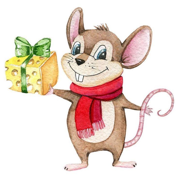 элементов картинки мультяшная мышь с подарком была третьей фавориткой
