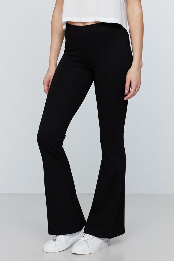 Petra Trousers short length fra Gina Tricot (svart), str M, kr 199,-