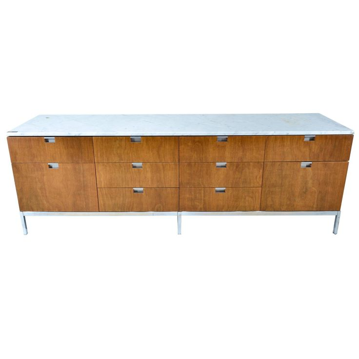 Florence Knoll Marble Top Credenza | From a unique collection of antique and modern credenzas at https://www.1stdibs.com/furniture/storage-case-pieces/credenzas/