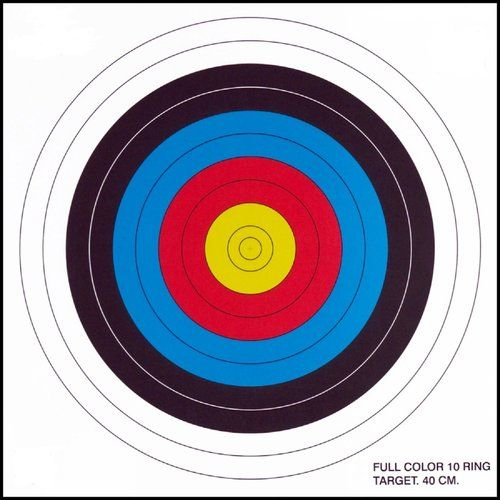 .30-06 - (100 Pack) 10 Ring Paper Target