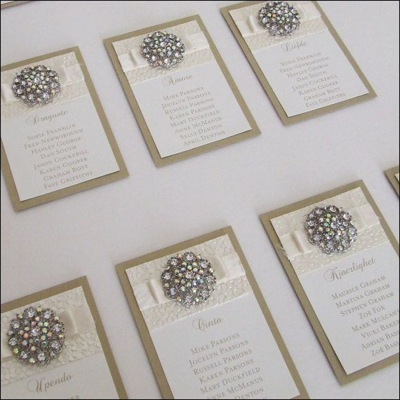 Couture Crystal Wedding Table Plan by Wedding Paraphernalia on Etsy, £70.00