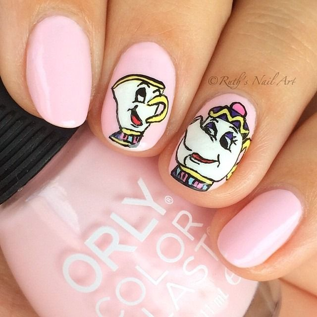 The Nail Art And Beauty Diaries: 7 Beauty And The Beast Nail Art Designs To Wear While You