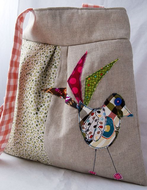Bird bag, applique
