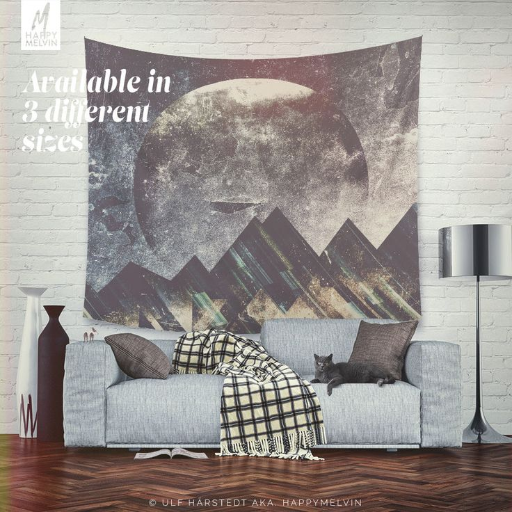 Decorate your wall with this beautiful, popular and unique wall tapestries by HappyMelvin.  Wall tapestries that feature the original photography and graphics by Ulf Härstedt aka. HappyMelvin. Almost all tapestries are trying to capture the feel of adventure, wanderlust and the beauty of our nature. Trying to bring wanderlust into our homes with beautiful home decor.  Available in three sizes, light weight, easy to hang(small pins is enough due to it´s light weight).  - available three…