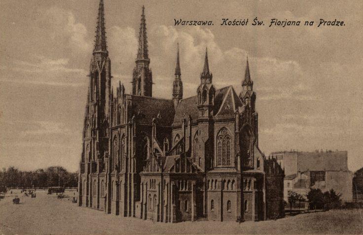 Pocztówka: Warszawa, kościół św. Florjana na Pradze (ante 1939)