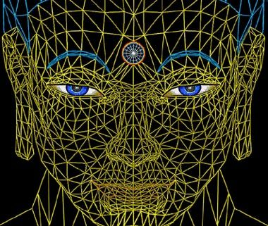 """ALEX GREY ON CYBERART AS A VISIONARY TOOL; with Karen St. Pierre July 1995 Aldous Huxley? Oh yea. Huxley talks about the visionary experience and how the mundane attraction to jewels is based on the similarity of gemstones to the sparkling jewel-like nature of the Heaven Worlds. It's one of the unconscious reasons for gemstones high valuation.The Revelation of St.John refers to the Holy City as """"having the glory of God,its radiance like a most rare jewel"""",and all through the Avatamsak"""