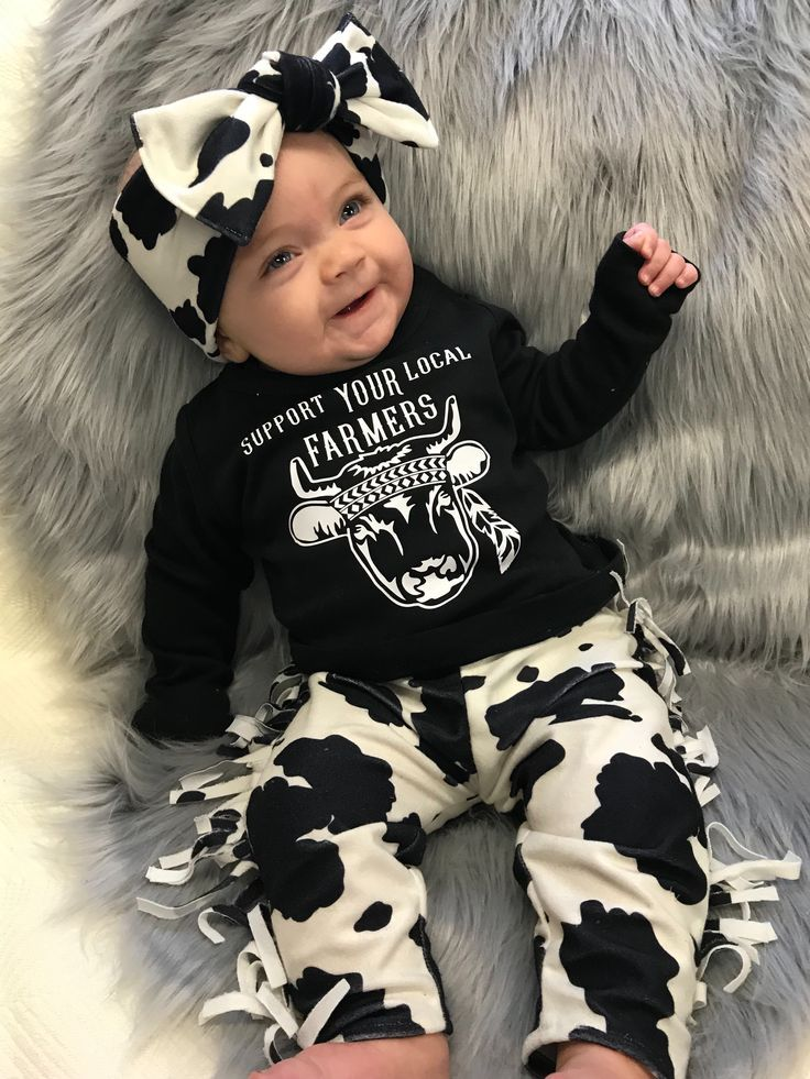 Cow Outfit – Cute Baby Clothes – Baby Girl Cowgirl Outfit – Cute Kids Clothes – Cute Baby Girl Clothes – Farmer Outfit – Sassy Baby Clothes – Cute Kids Fashion & Outfits