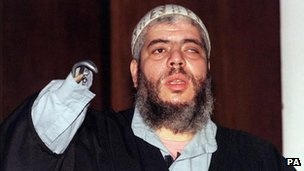 Abu Hamza al-Masri, has flown out of the UK on a jet bound for the United States.