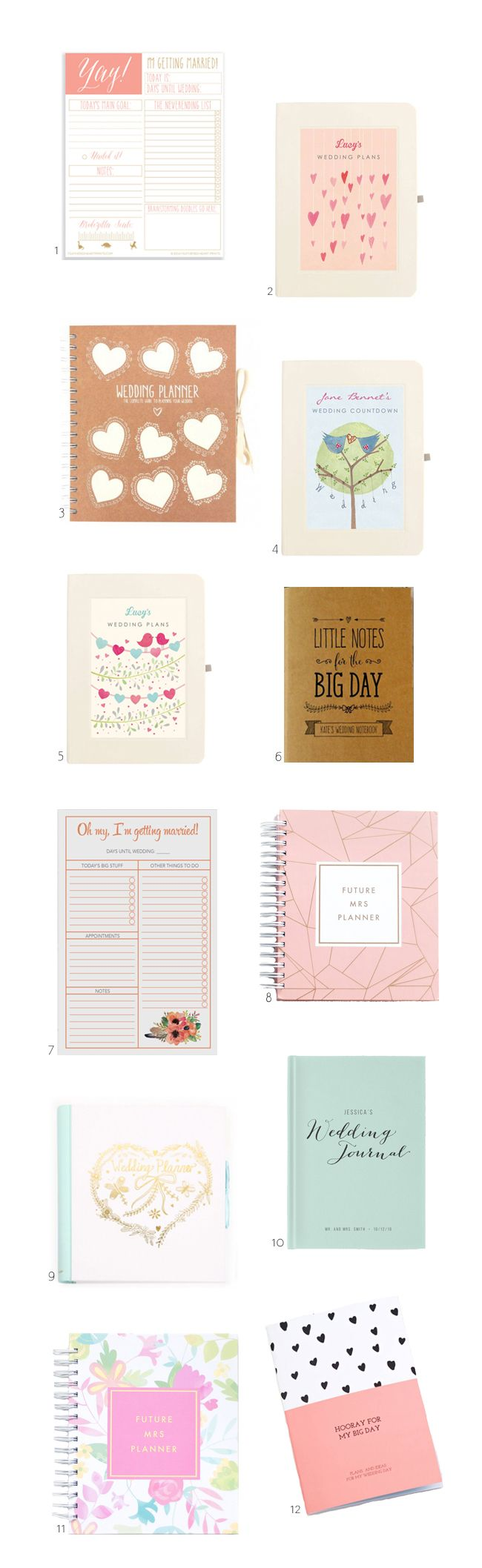 The best wedding planning notebooks about!