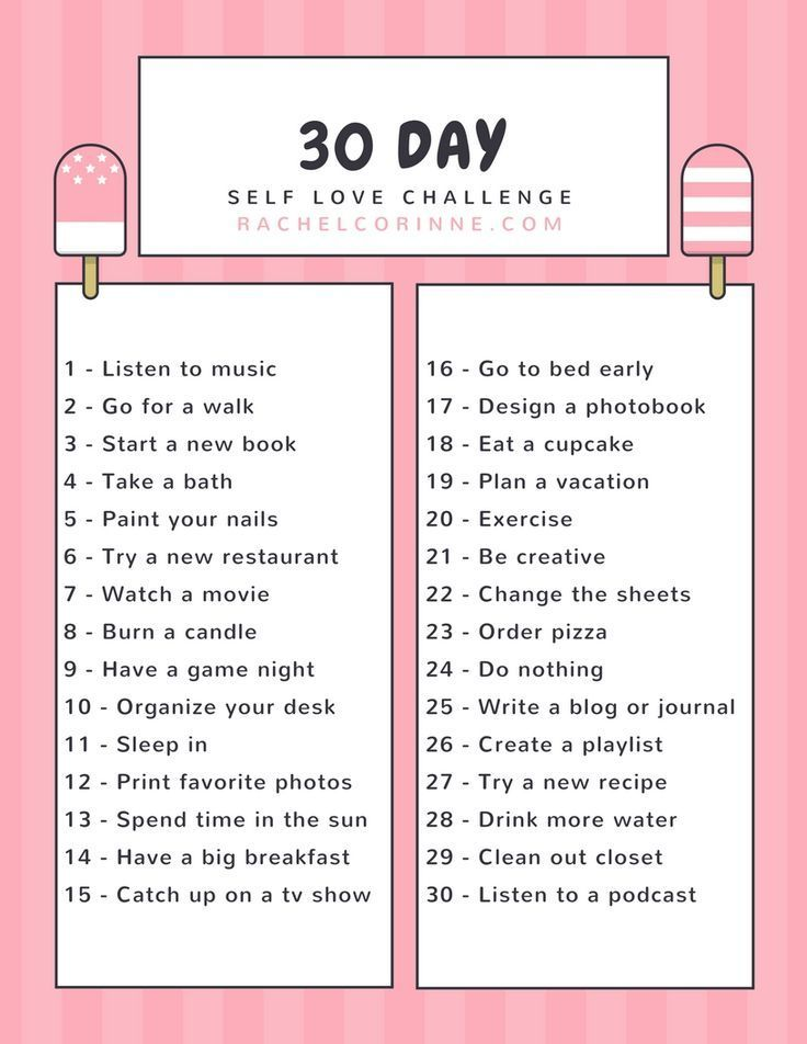 30 Day Self Care Challenge With Images Self Care Activities