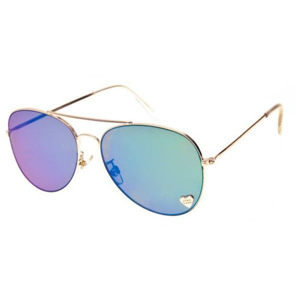 Star Wars  Gold Trooper Aviator Sunglasses ($20) ❤ liked on Polyvore featuring accessories, eyewear, sunglasses, gold, gold mirror sunglasses, aviator glasses, heart-shaped sunglasses, gold aviator sunglasses and heart shaped glasses