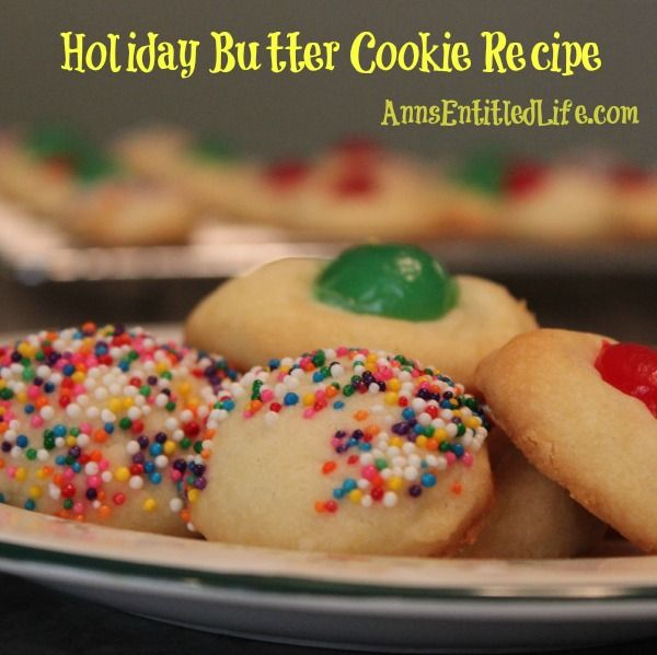 recipe christmas butter cookies