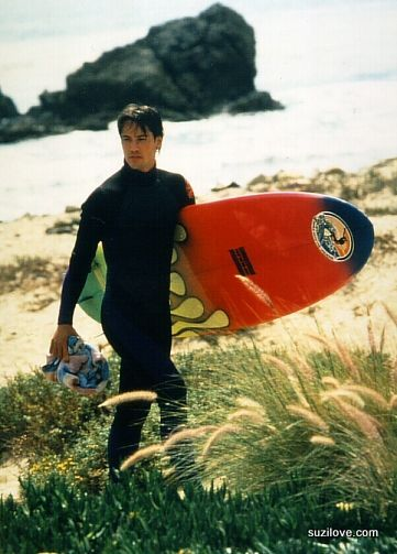 "Keanu Reeves as Johnny Utah in Point Break...yum.... ~ ""It's always wonderful to get to know women, with the mystery and the joy and the depth. If you can make a woman laugh, you're seeing the most beautiful thing on God's Earth."""