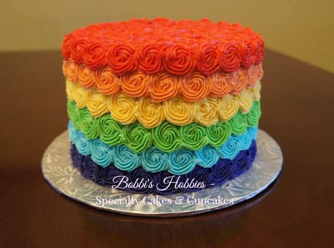 Rainbow smash cake www.facebook.com/bobbi.hobbies