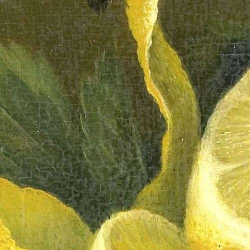 Stilleven met citroen en geslepen glas