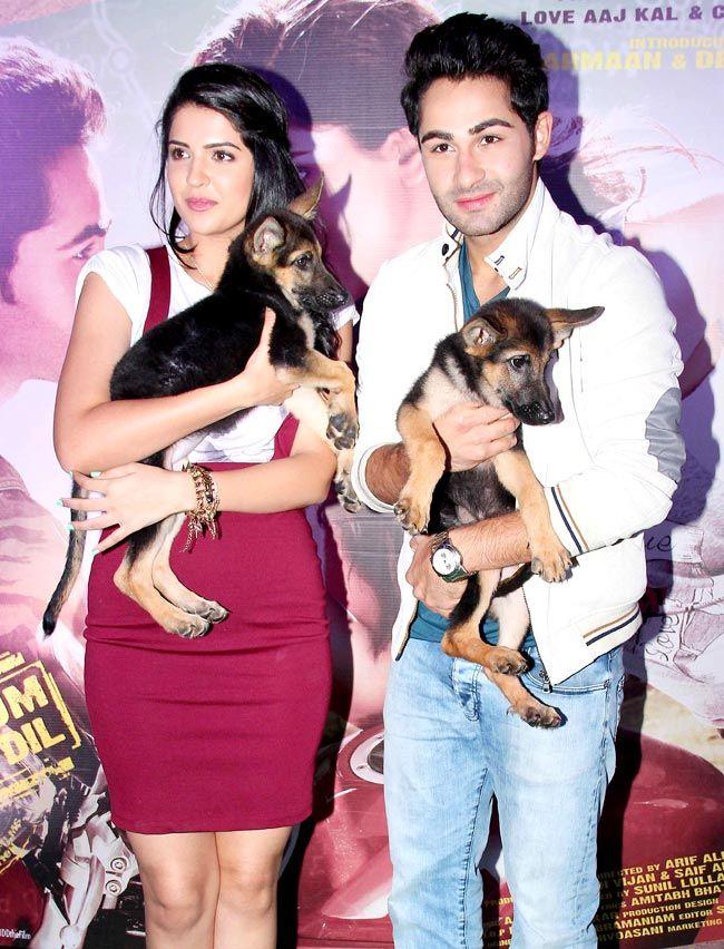 Armaan Jain, Deeksha Seth & GSD Puppies