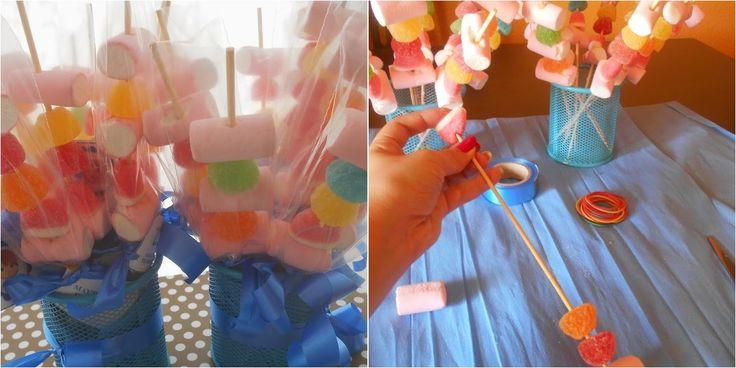 Cómo hacer brochetas de chuches para regalar en celebraciones