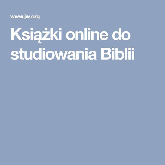 Książki online do studiowania Biblii