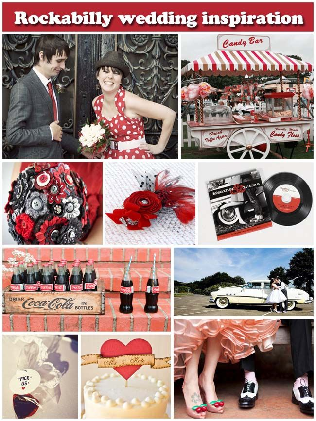 #Rockabilly Red Wedding ... Wedding ideas for brides bridesmaids, grooms groomsmen, parents planners ... https://itunes.apple.com/us/app/the-gold-wedding-planner/id498112599?ls=1=8 … plus how to organise an entire wedding, without overspending ♥ The Gold Wedding Planner iPhone App ♥