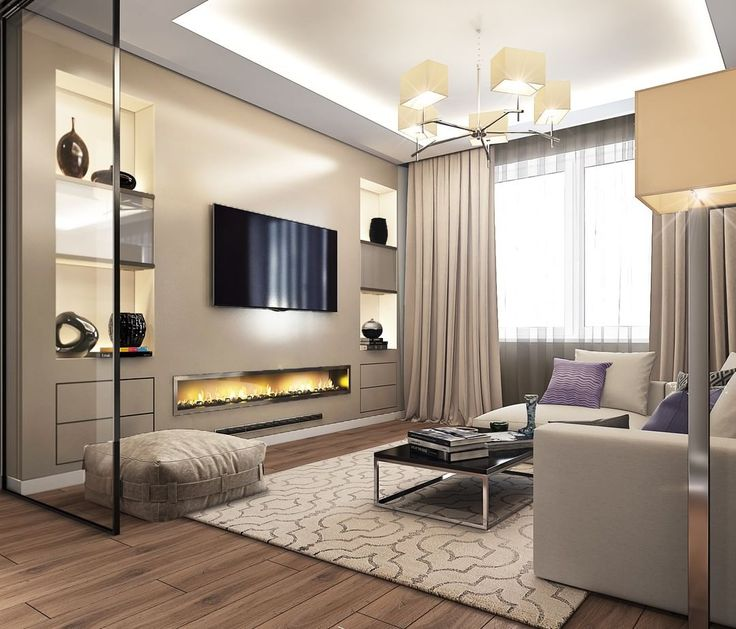 Гостиная комната квартиры. В основе концепции дизайна - простота его воплощения. Стильно не обязательно сложно и дорого) #bronx #bronx.moscow #гостиная #дизайнинтерьера