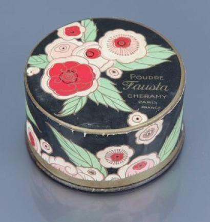 CHÉRAMY powder box - «Fausta» - (années 1930) - Boite de poudre cylindrique