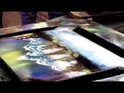 spray paint artist fremont street experience las vegas nv. Black Bedroom Furniture Sets. Home Design Ideas