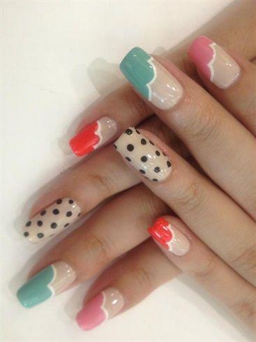 Polka Dot Nails by WuJingwen - Nail Art Gallery nailartgallery.nailsmag.com by Nails Magazine www.nailsmag.com