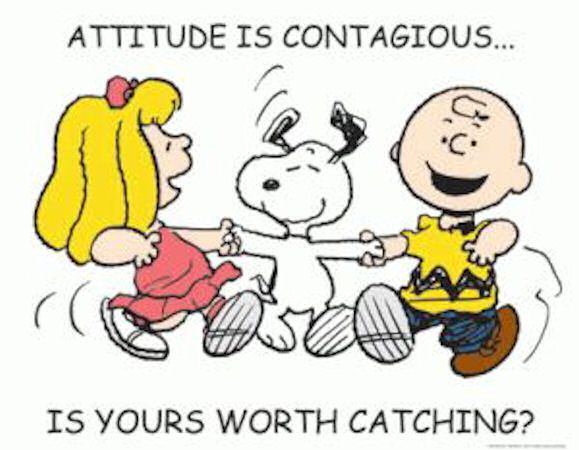 Let your everyday attitude be (positively) contagious to others! No ones likes an ugly person.. seriously