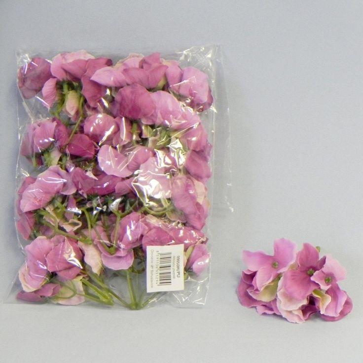 Hortenzie květ textil S/12 fialová | KLIA CZ s.r.o.